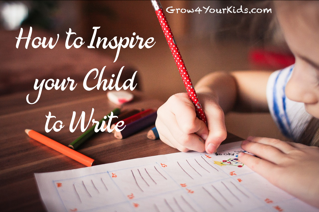 A child writing with a pencil