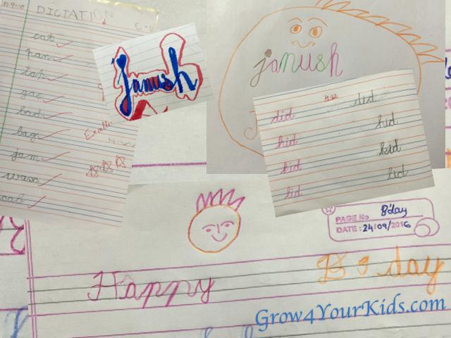 4-year-old's handwriting
