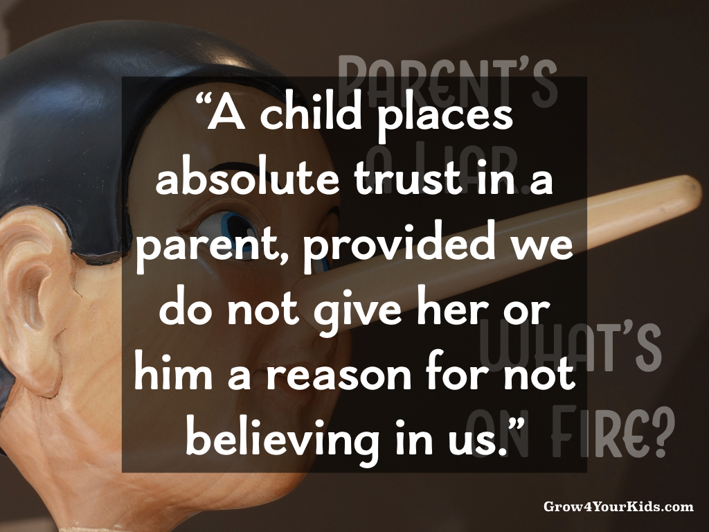 Parenting Article - When we lie to our children