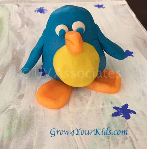 Play Dough Modelling - Blue Penguin