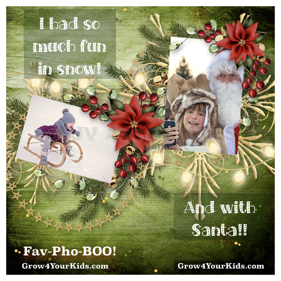 Photobooks created with favorite photos and one liners with kids would encourage them to express.