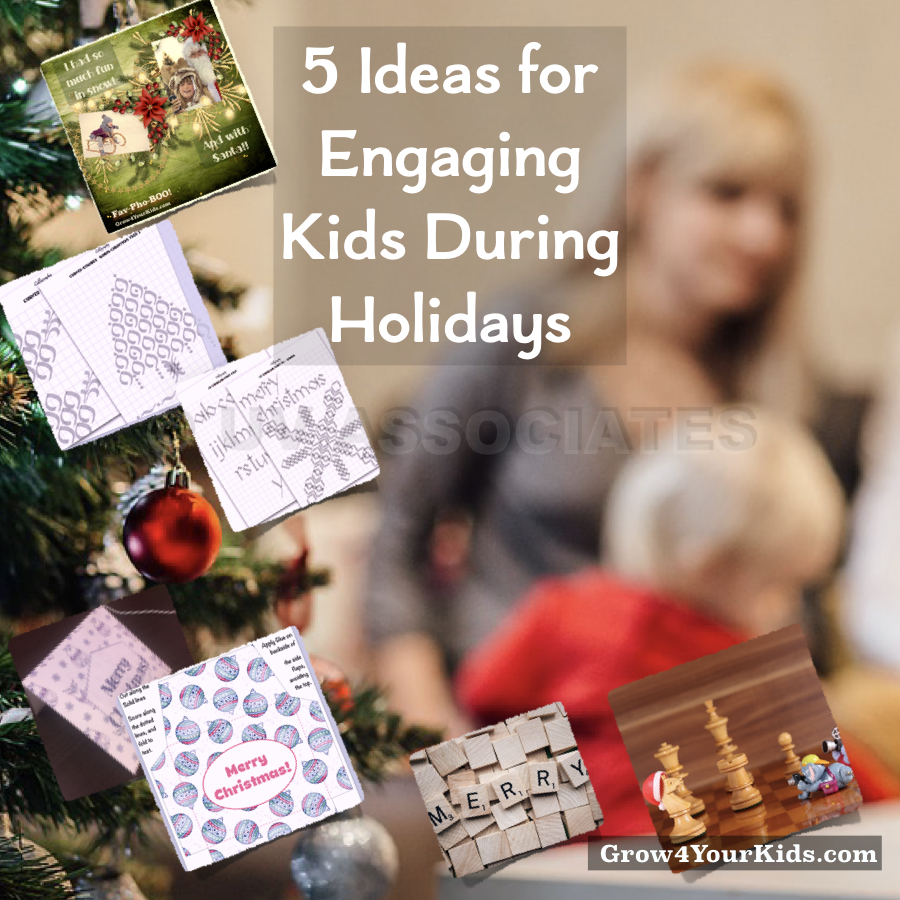 Kids have a lot of free time during holidays. Engage them and Enjoy!