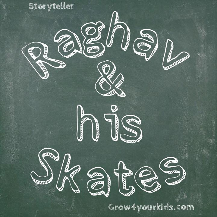 Raghav and his Skates - Chalkboard
