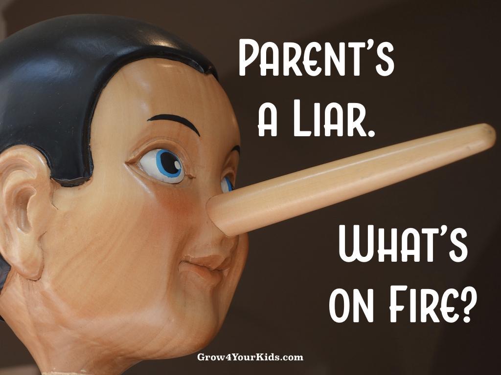 When a parent lies to kids